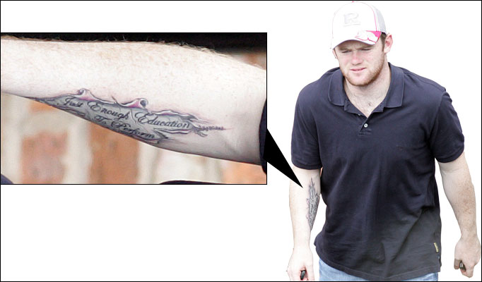 Wayne Rooney Tattoo Stereophonics Wayne Rooney Tattoo Stereophonics Tattoo Tattoo Blog