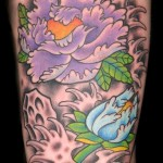 purple flower tattoo picture by T Massari