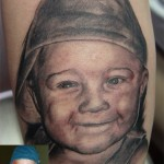 Baby Portrait Tattoo by Carter Moore