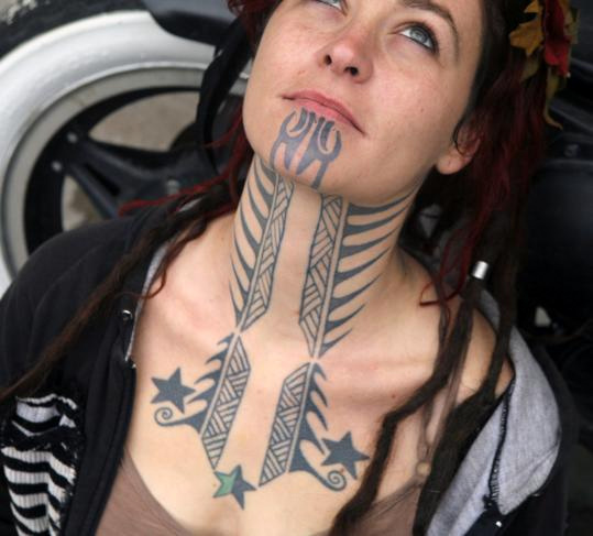 example of the warrior facial tattoos, but by no means the only one.