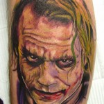 Heath Ledger Joker Tattoo by Carter Moore