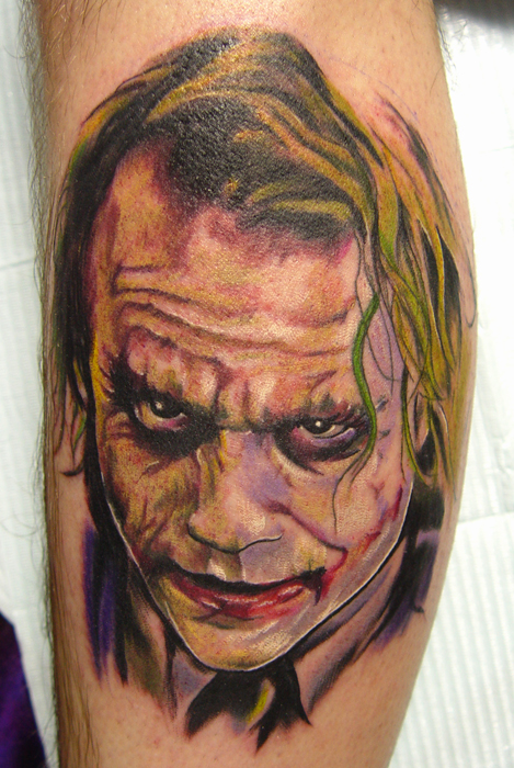 Heath Ledger Joker Tattoo by Carter Moore. December 4th, 2008 by admin
