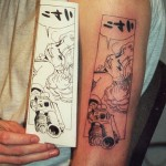 manga comic strip tattoo picture