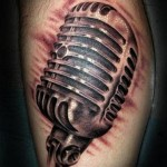 microphone tattoo picture by T Massari