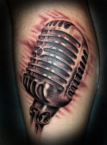 Tattoo Blog » Uncategorized » microphone tattoo picture by T Massari