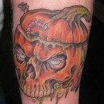 rotting pumpkin tattoo picture