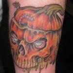 rotting pumpkin tattoo picture