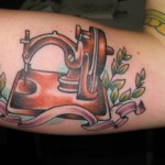 sewing machine tattoo picture