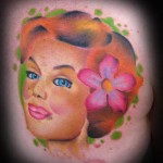 pretty girl tattoo picture by T Massari