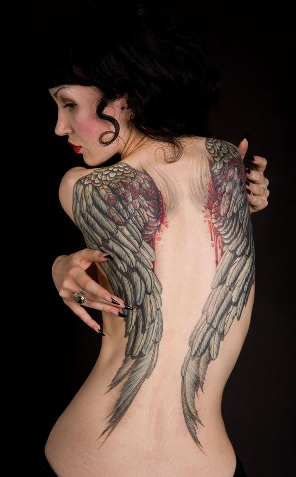 Pavel Angel angel wings tattoo picture