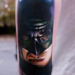 batman face tattoo