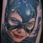cat woman tattoo