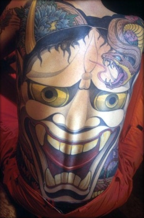 We are starting a new Japanese Hanya Mask tattoo pictures section on the