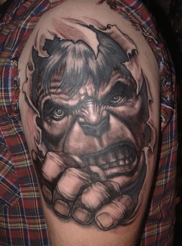 Comic Book Tattoos: Wolverine, Batman, Superman…