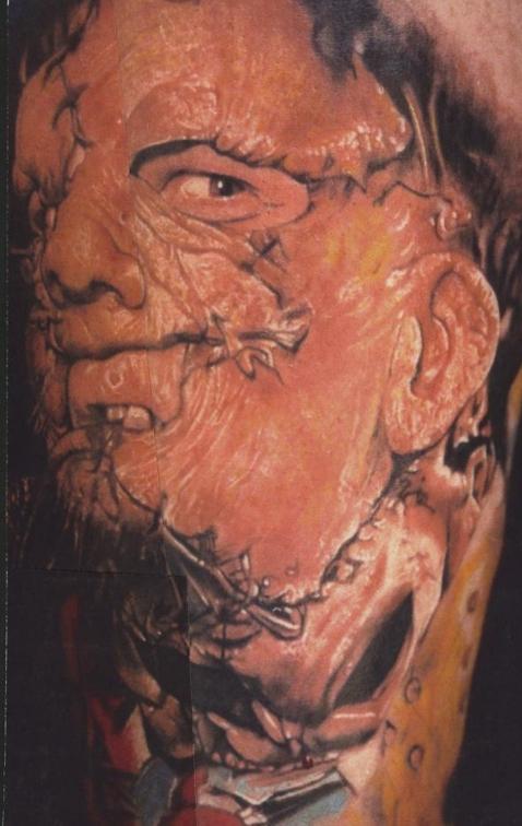 Leather Face Renaissance Studios Tattoo Buffalo NY US