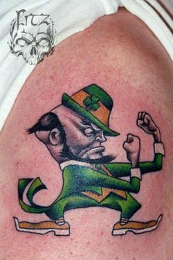 Tattoo blog sports tattoo pictures for Notre dame tattoos