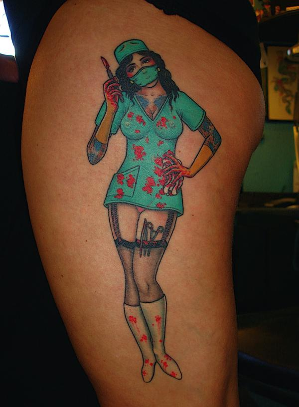 Tattoo Blog » Uncategorized » Marco Cerretelli nurse pinup tattoo picture