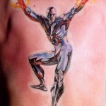 silver surfer tattoo