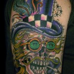 Jason Brooks skeleton tattoo picture
