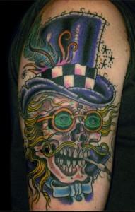 Jason Brooks skeleton tattoo picture
