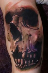 Josh Carlton skull tattoo picture
