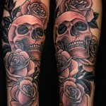 Marco Cerretelli skull rose tattoo picture
