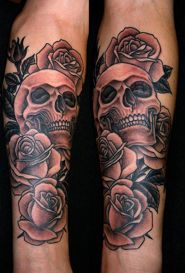 Tattoo Blog » Uncategorized » Marco Cerretelli skull rose tattoo picture