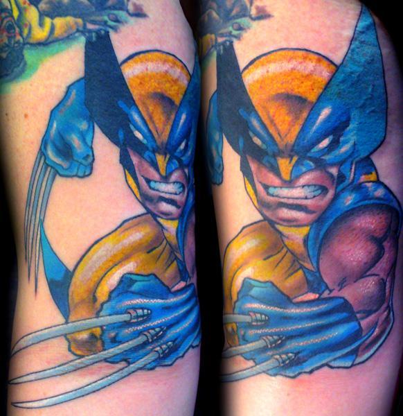 tattoo blog comic book tattoos wolverine batman superman. Black Bedroom Furniture Sets. Home Design Ideas