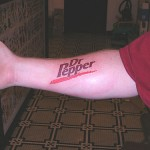 dr pepper forearm tattoo