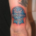 pabst blue ribbon tattoo