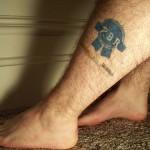 pbr leg tattoo