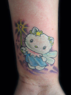 Art that adorns the flesh… Tattoo Blog » Uncategorized » hello kitty fairy