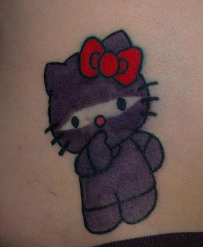 Hello Kitty Tattoos. hello kitty ninja tattoo