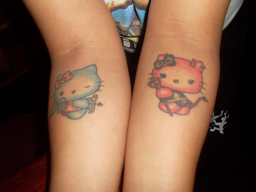 Tattoo Blog » Uncategorized » hello kitty sinner saint tattoo