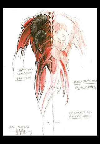 Red Dragon Tattoo Design for Sale by Tom Berg